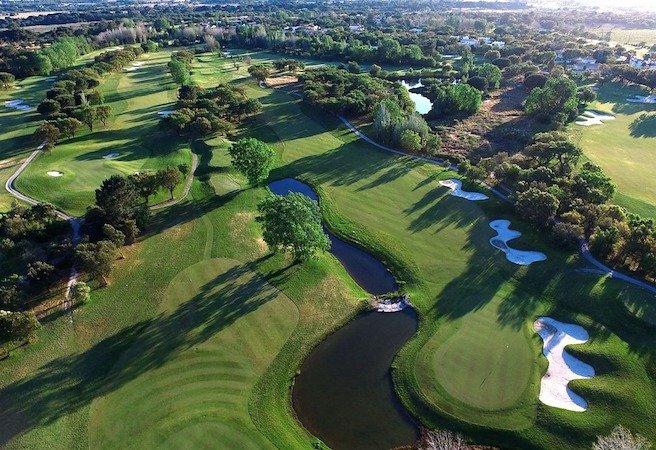 campo de golf montado